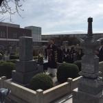尼崎の弥生ヶ丘墓地にて文字彫り&納骨式