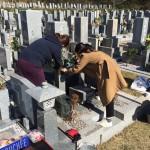 鵯越墓園のはなみずき区にて納骨式