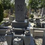 鵯越墓園にてお墓のリフォーム(竿石の入れ替え)