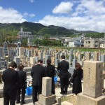 石屋墓園にて納骨式の立会