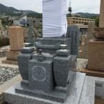 石屋墓園にて天山石、和墓建立