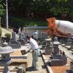 神戸市北区、常楽寺境内墓地、基礎工事