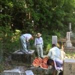 北区有野の村墓地にて墓じまい工事