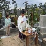 石屋墓園、墓所清祓い式の立会