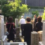魚崎墓地にてお墓の文字彫り&納骨式させていただきました。