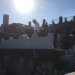 東明桜が丘霊苑、玉垣石、新設リフォーム工事