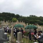 神戸市営鵯越墓園にて納骨式の立会