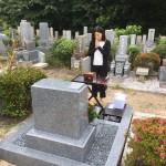 舞子墓園にて黒龍石の洋型墓石を建立