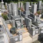 鵯越墓園にて雑草対策の固まる土の施工