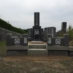 鵯越墓園にてお墓のリフォーム工事