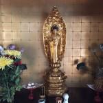 神戸市北区にて仏像の修理