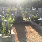 鵯越墓園にて墓じまい、解体工事