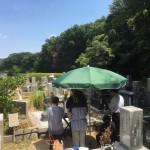 鵯越墓園、お墓のリフォームの後、納骨式