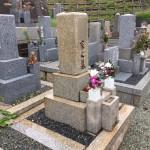 お墓の傾き直しリフォーム修理
