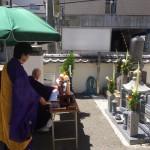 弘法寺の永代供養墓にて納骨&開眼式