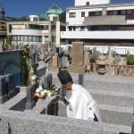 石屋墓園の永代供養墓にて清祓い式
