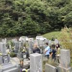鵯越墓園にてお墓の文字彫りと納骨式