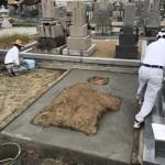 奈良、御所市、お墓の基礎工事に行って来ました。