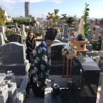 石屋墓園にて、墓地の清祓い式