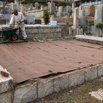 神戸春日野墓地で同墓地の納骨堂へ改葬のため、お墓じまいをいたしました。