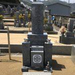 和歌山市の墓地に、愛媛県産大島石特級の和型墓石を既存のお墓に合わせて建てさせていただきました。