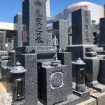 明石市の寺院墓地に黒龍石の8寸神戸型のお墓を建てさせていただきました。
