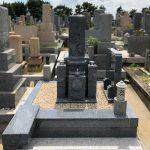 堺市営墓地から神戸の石屋墓園へ改葬、お墓じまいと新規建立工事。天山石の8寸神戸型のお墓が完成しました。