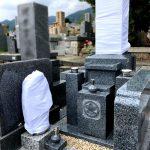 淡路島の山あいの墓地から神戸の石屋墓園へ、お墓のお引越しと新規建立工事を行いました。