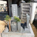 神戸市の寺院墓地でお墓のリフォーム工事(墓地の拡張と霊標設置)を行いました。