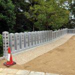 神戸市東灘区の中野八幡神社の玉垣工事を行いました。その(2)~玉垣設置工事・竣工式の様子