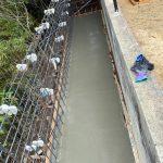 神戸市東灘区の中野八幡神社の玉垣工事を行いました。その(1)~法面拡張工事の様子