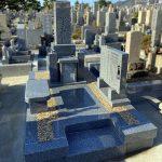 神戸市の石屋墓園に天山石の神道墓が完成しました。お墓じまいをしてお参りしやすい墓地に新たに建て替え。