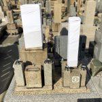 神戸市の東明桜ヶ丘霊苑から石屋墓園へお墓の移設工事、併せて花立リフォームと霊標を追加しました。