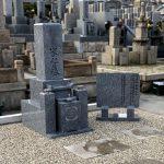 神戸市の石屋墓園で古いお墓を庵治石細目9寸の和型墓石に建替えました。雑草対策を行いお参りしやすいお墓になりました。