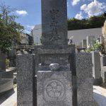 神戸市東灘区の共同墓地にて、佐賀県産天山石で8寸神戸型の和型墓石を建てさせていただきました。