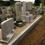 大阪府高槻市の寺院墓地にて、大掛かりな墓地の改装工事。江戸時代からの墓石を整理して、お参りしやすいお墓になりました。